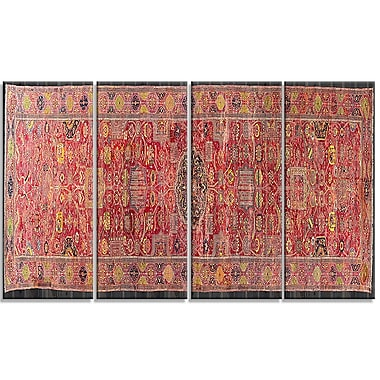 Designart The Kevorkian Hydrabad Carpet Canvas Art Print, (PT4736-271)