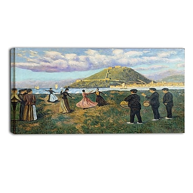 Designart Dario de Regoyos, Basque Celebration Landscape Canvas Arwork, (PT4280-32-16)