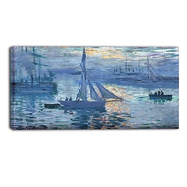 Designart Claude Monet, Sunrise, Marine Canvas Art Print, (PT4230-40-20)