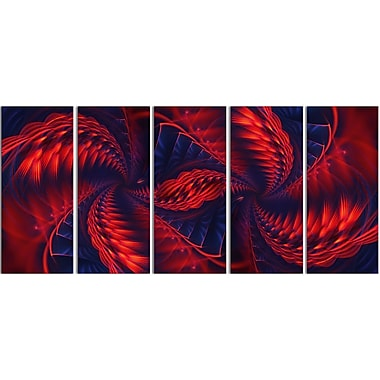 Designart Kaleidoscope 5-Panel Modern Canvas Art Print, (PT3034-401)