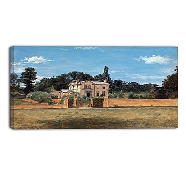 Designart Thomas Churchyard, House in Woodbridge Canvas Art Print, (PT4936-32-16)