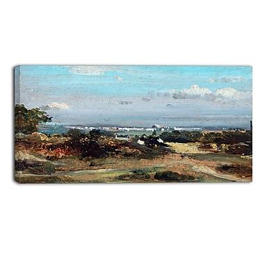 Designart Frederick W Watts, A View in Suffolk Landscape Canvas Art Print, (PT4402-40-20)