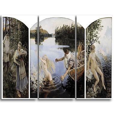 Designart – La légende d'Aino par Akseli Gallen-Kallela, imprimé tryptique sur toile, 3 panneaux (PT4113-3P)