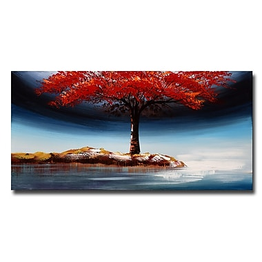 Designart Landscape Tree Growing Strong on Your Own Landscape Tree Canvas Art Print, 40