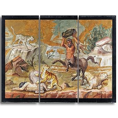 Designart Centaur, Centaur Mosaic Canvas Art Print, (PT4218-3P)