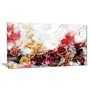 Designart Mixed Roses Canvas Art Print, (PT3434-32-16)