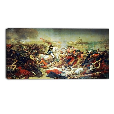 Designart Antoine-Jean Gros, Battle of Aboukir Master Piece Landscape Artwork, (PT4144-32-16)