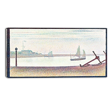 Design Art – Georges Seurat, The Channel at Gravelines, Evening, impression sur toile