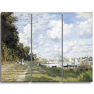 Designart – Tableau paysage imprimé sur toile, Le Bassin d'Argenteuil de Claude Monet (PT4246-3P)