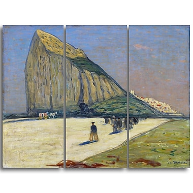 Designart James Wilson Morrice, Gibraltar Sea & Shore Canvas Artwork, (PT4547-3P)