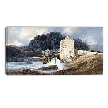 Designart Thomas Girtin, The Abbey Mill Canvas Art Print, (PT4957-32-16)