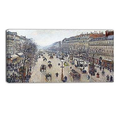 Designart – Tableau paysage imprimé sur toile, Le Boulevard Montmartre de Camille Pissarro (PT4194-32-16)