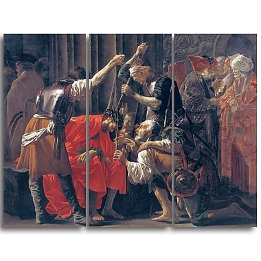 Designart Hendrick ter Brugghen, Christ Crowned with Thorns Canvas Art Print, (PT4489-3P)