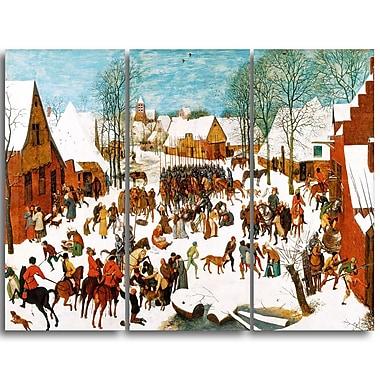 Designart Pieter Bruegel, Massacre of the Innocents Canvas Art Print, (PT4865-3P)