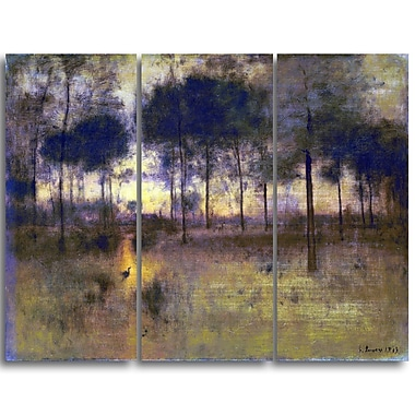 Designart George Inness, The Home of the Heron Landscape Canvas Art Print, (PT4417-3P)