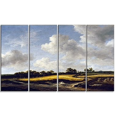 Designart Jacob van Ruisdael, Landscape with a Wheatfield Canvas Art Print, (PT4529-271)