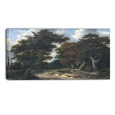 Designart Jacob Isaacksz, Road through an Oak Forest Canvas Art Print, (PT4519-40-20)
