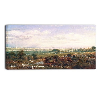 Designart Frederick Nash, London from Islington Hill Landscape Canvas Art Print, (PT4396-32-16)