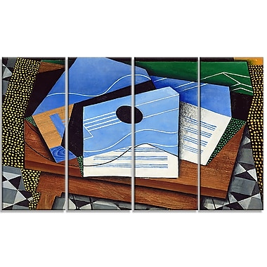 Designart Juan Gris, Guitar on a Table Canvas Art Print, (PT4678-271)