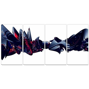 Designart Nice to Meet You 4-Panel Abstract Canvas Art Print, (PT3092-271)