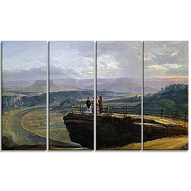 Designart JC Dahl, View from Bastei Canvas Art Print, (PT4572-271)