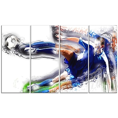 Designart Soccer Big Kick Canvas Print, (PT2574-271)