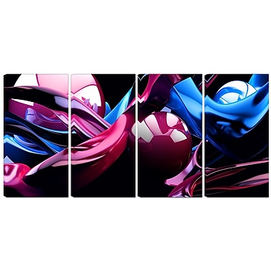 Designart What do you see? 4-Panel Modern Canvas Art Print, (PT3048-271)