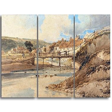 Designart Thomas Girtin, Sandsend Canvas Art Print, (PT4964-3P)