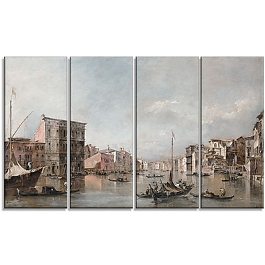 Designart Canaletto, The Grand Canal in Venice Canvas Art Print, (PT4200-271)