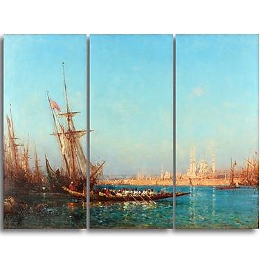 Designart – Félix Ziem, vue d'Istanbul, imprimé sur toile (PT4373-3P)