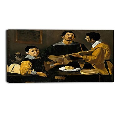 Designart Diego Velazquez, The Three Musicians Canvas Art Print, (PT4298-32-16)