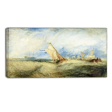 Designart JMW Turner, Going About to Please his Masters Canvas Art Print, (PT4611-32-16)