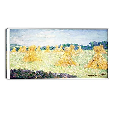 Designart Claude Monet, The Young Ladies of Giverny Landscape Canvas Arwork, (PT4241-32-16)