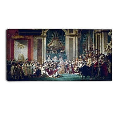 Designart Jacques Louis David, Coronation of Emperor Napoleon I Canvas Art Print, (PT4537-32-16)