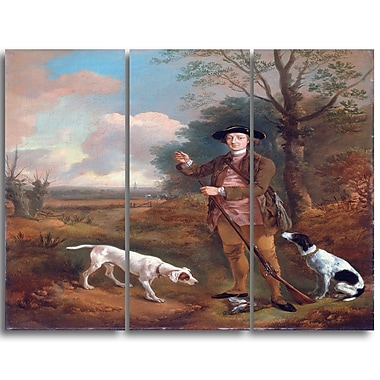 Designart Thomas Gainsborouh, Major John Dade Canvas Art Print, 3 Panels, (PT4950-3P)
