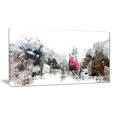 Designart City Never Sleeps Cityscape Canvas Art Print, (PT3309-32-16)