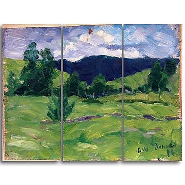 Designart Gustav Wentzel, Summer Landscape Wall Art, (PT4460-3P)
