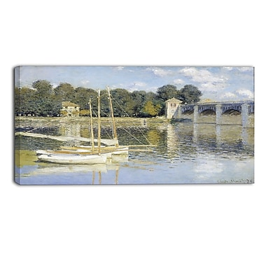 Designart Claude Monet, The Argenteuil Bridge Canvas Art Print, (PT4269-40-20)