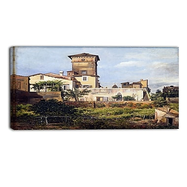 Designart JC Dahl, Scene from the Villa Malta Canvas Art Print, (PT4577-40-20)
