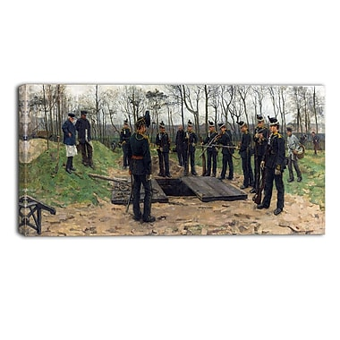 Designart Isaac Israels, Military Funeral Lansdcape Artwork, (PT4512-40-20)