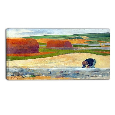 Designart Paul Serusier, Seaweed Gatherer Canvas Art Print, (PT4924-40-20)