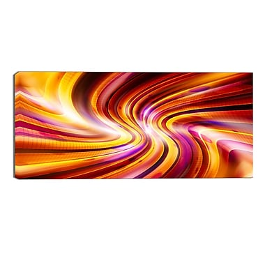 Designart Warm Rainbow Abstract Contemporary Canvas Art, (PT3051-32-16)