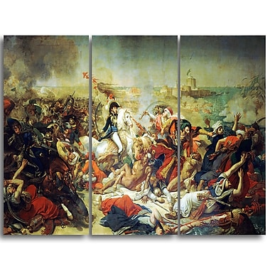 Designart Antoine-Jean Gros, Battle of Aboukir Master Piece Landscape Artwork, (PT4144-3P)
