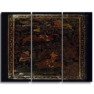 Designart Toile imprimée, Collection de poèmes, Nur et al. Din Abd Al Rahman, 3 panneaux (PT4755-3P)