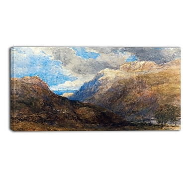 Design Art David Cox, Penmanmawr Landscape Canvas Artwork