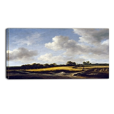Designart Jacob van Ruisdael, Landscape with a Wheatfield Canvas Art Print, (PT4529-32-16)