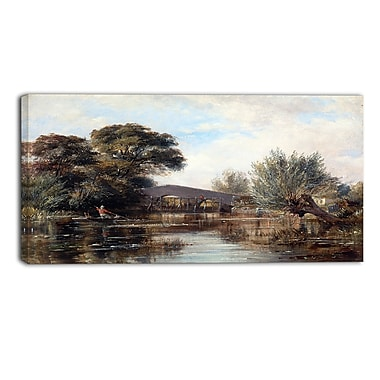 Designart Edward William, Godstow Bridge near Oxford Canvas Art Print, (PT4345-40-20)