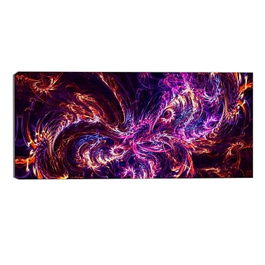 Designart Abstract Tidal Wave at Night Contemporary Canvas Art Print, (PT3064-32-16)