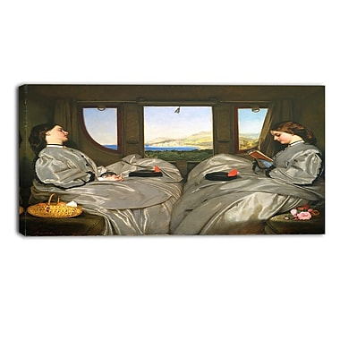Designart Augustus Leopold Egg, The Travelling Companions Canvas Art Print, (PT4166-40-20)