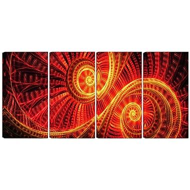 Designart – Art imprimé sur toile, danse du soleil, 4 panneaux (PT3002-271)
